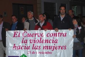 Silvestre Castells encabezando la manifestación